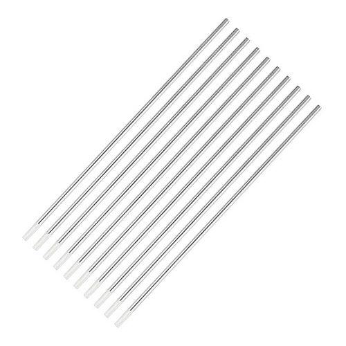 10 Piece White WZ8 1/8   Zirconiated Tungsten Electrode Head Tungsten Needle/Rod For Welding Machine