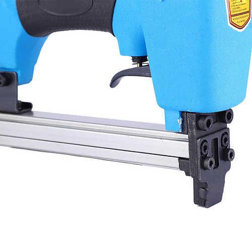 Pneumatic Nail Gun Pneumatic Nailer Stapler Air Powered Staple Gun Carpentry Woodworking Nail Tool with 3800pcs Nails