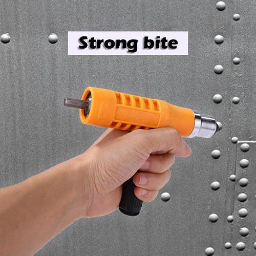 Electric Rivet Nut Gun Riveting Tool Set Insert Nuts Riveter Drill Adapter Kit No Skidding Quick Back Nail Feature Riveter Rivet