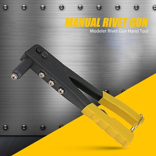 Riveting Non-slip Handle Rivet Gun Pull Willow Gun Manual Drill Woodworking Tool for Hand Automotive Processing Supply