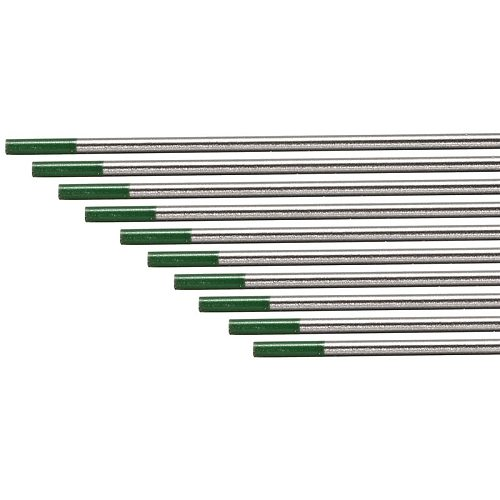 10Pcs For AC Tig Welding Pure Tungsten Electrodes WP Green Tip 2.4mm*150mm
