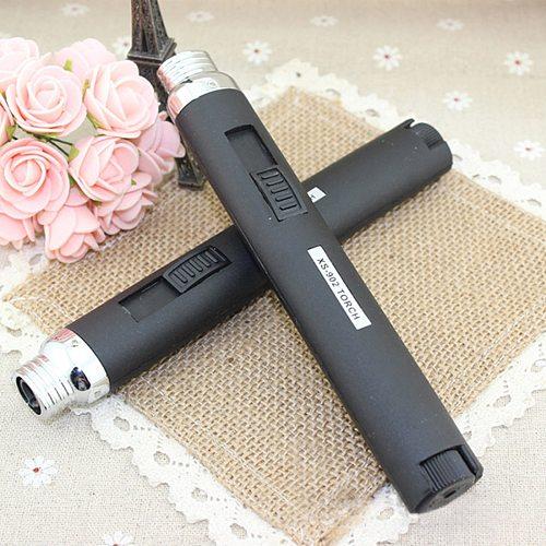 High quality Windshield pen welding torch Outdoor Lighter Jet Flame Butane Gas Refill Lighter Welding Soldering Torch Pen