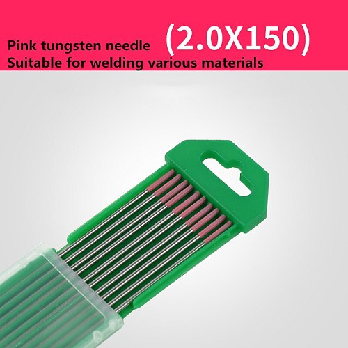 10Pcs For AC Tig Welding Pure Tungsten Electrodes WP pink Tip 1.0/1.6/2.0/2.4mm