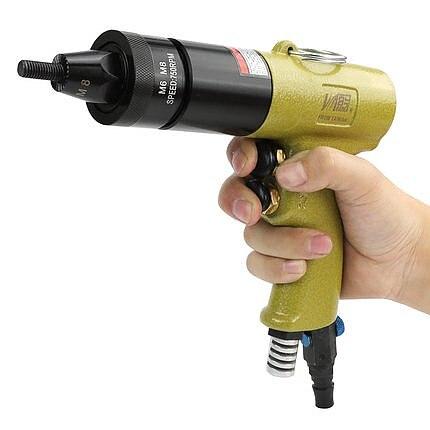 pneumatic rivet nut gun M3M4M5M6M8M10M12 air pull nut tool self lock gun head wind nut riveter rivet cap tools