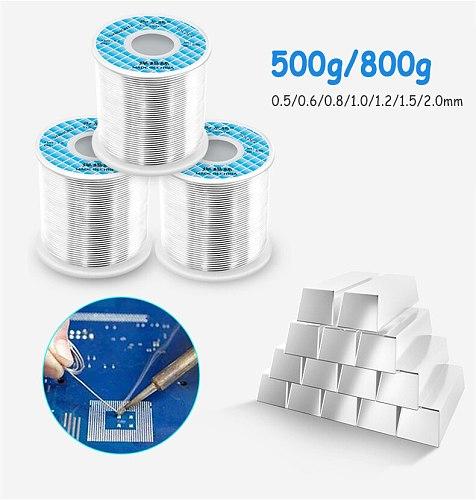 800g/500 Tin lead Solder alloy Rosin Core 2.2% Flux Reel Welding Line Solder Wire Clean Rosin Core 0.6/0.8/1.0MM Soldering Wire