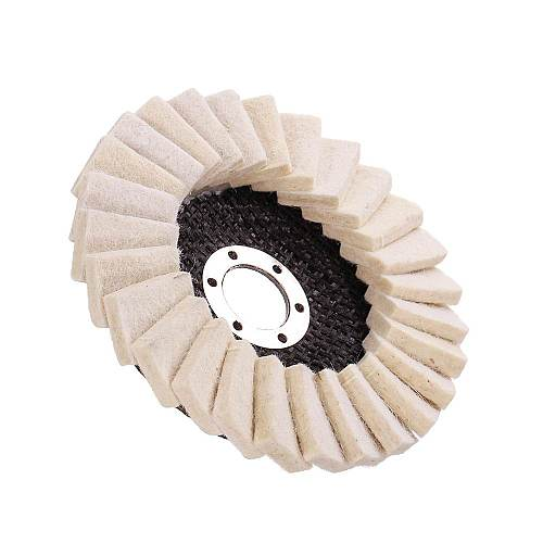 130mm Stianless Steel Wool Felt Flap Polishing Wheel Disc Angle Grinder Buffing Pads For Medical Glass Marble Metal Durable