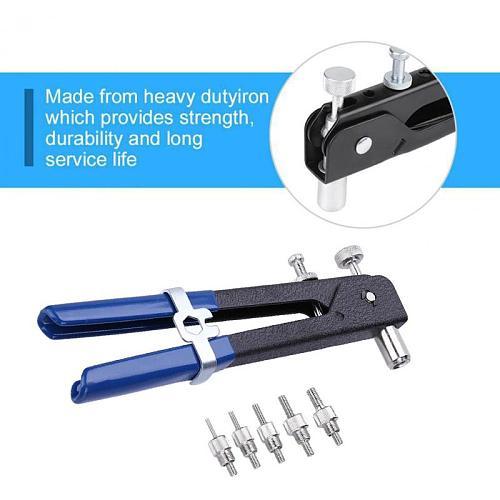 86pcs/set Hand Riveter Nut Rivet Gun Kit M3-M8 Manual Threaded Nut Rive Tool Stainless Steel Household Repair Tools