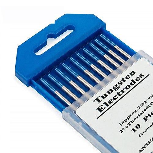 10pcs 2% Lanthanated WL20 TIG Tungsten Electrode 1.0 1.6 2.0 2.4 3.0  4.0  Blue Metalworking 175mm