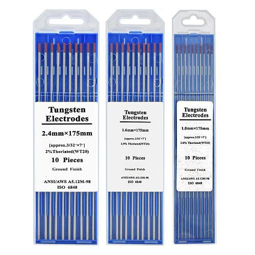 HZXVOGEN Tungsten electrodes 1.0/1.6/2.4/3.2/4.0*175mm WP WT20 WC20 WL15 WL20 WX TIG weld rods For Tig Welder Machine