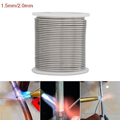1000/2000/3000/5000mm Aluminum Welding Brazing Wires 1.5/2MM Low Temperature Wire Solder Cored  For Electrical DIY