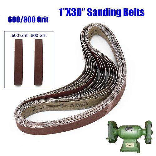 15pcs 25*762mm Abrasive Sanding Belts Band 600/800/1000 Grit Sander Belts Sanding Paper For Grinding Polishing Woodworking Tool