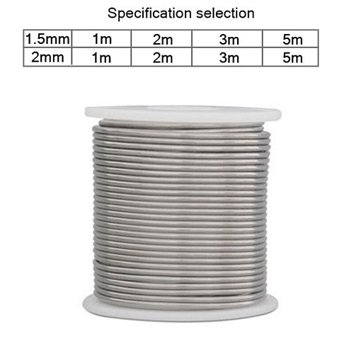 1000/2000/3000/5000mm With Flux-cored Solder Wire Aluminum Welding Brazing Wires Low Temperature Wire Solder Cored 1.5/2mm