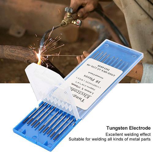 10 pcs Tungsten Electrodes Welding Electrodes 150mm/175mm 1.6mm (WES Purple) Tig Tungsten Welding Electrodes Rods