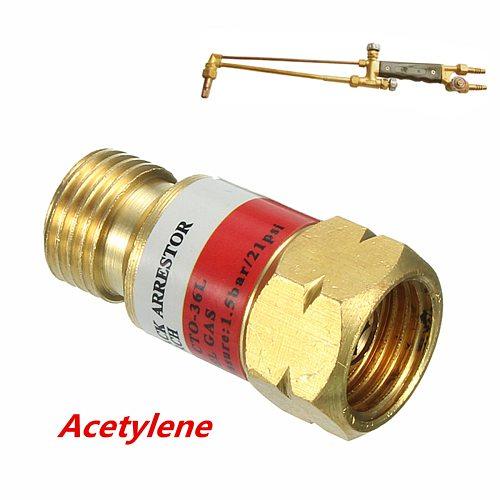 Oxygen Acetylene Welding Check  Torch end use with flashback arrestor