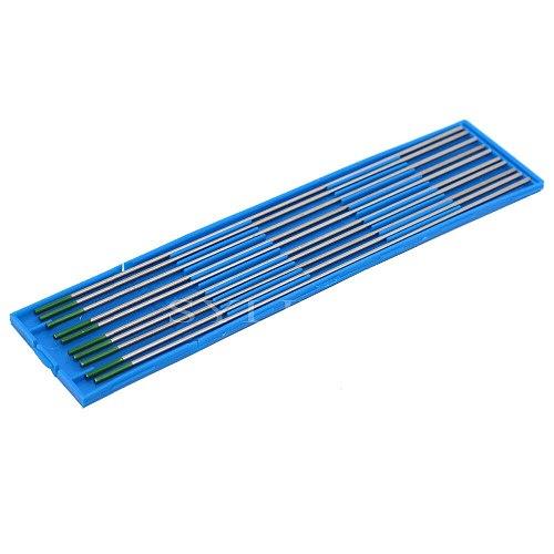 10pcs TIG Welding Pure Tungsten Electrode Green Tip 1.6x150mm Metalworking Tools