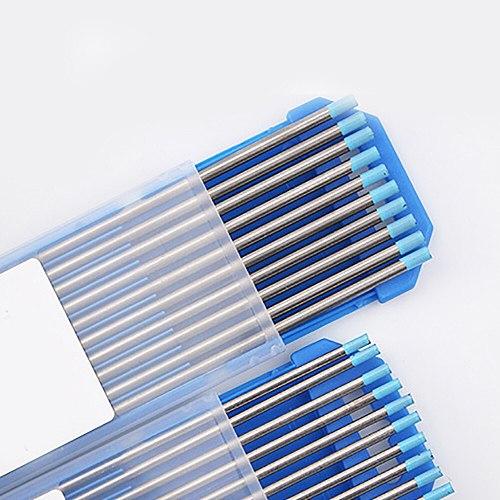 10pcs 1.0/1.6mm Professional Blue Head Lanthanum Tungsten Electrode 150/175mm Welding Soldering Supplies