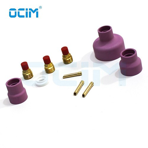 12# 14# 16# 24#  Ceramic Cup Complete Kit for 9, 20, & 25 Series TIG Torches