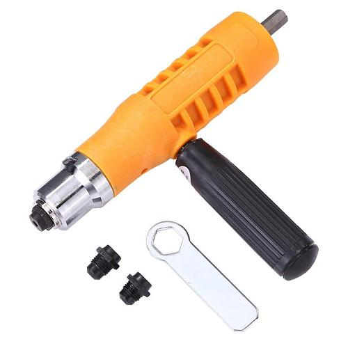 Electric Rivet Nut Gun Riveting Tool Cordless Insert Nuts Riveter Adapter Kit Cordless Riveting Drill Adapter Power Tool