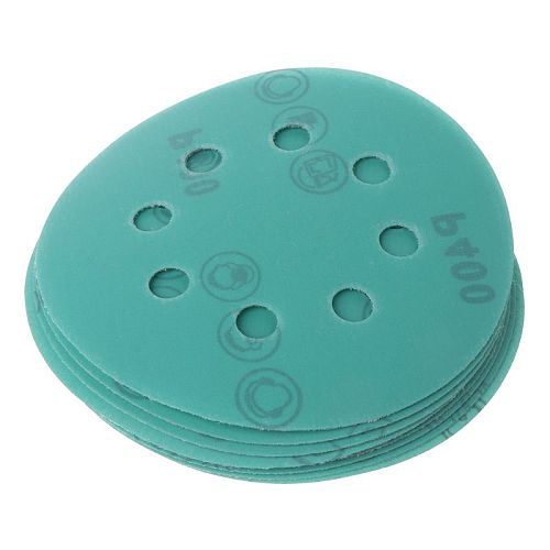 10Pcs Professional Anti Clog 125mm Sandpaper 5  Polyester Film Sanding Disc Wet and Dry Hook and Loop Abrasive Tools