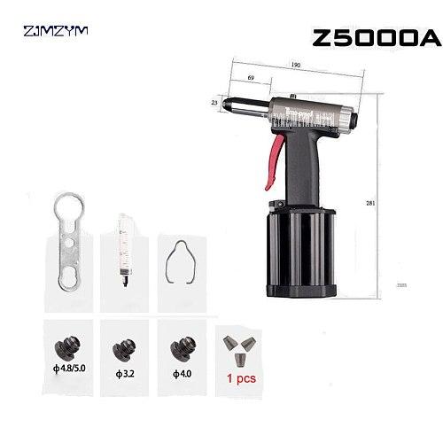 Z5000A Commercial Pneumatic Rivet Gun Hydraulic Riveting Tool Air Riveter Power Tool For 0.5-0.7Mpa Gas pressureblind rivets