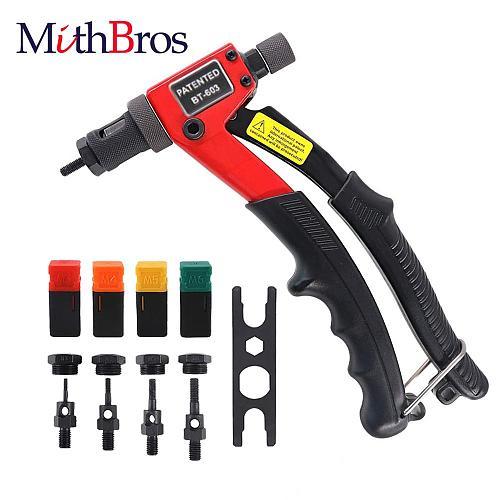BT-603 Rivet Gun Kit Hand Rivet Nut Setter Kit Rivnut Setting Tools Nut Setter Tool Hand Blind Riveter with Mandrel M3/M4/M5/M6