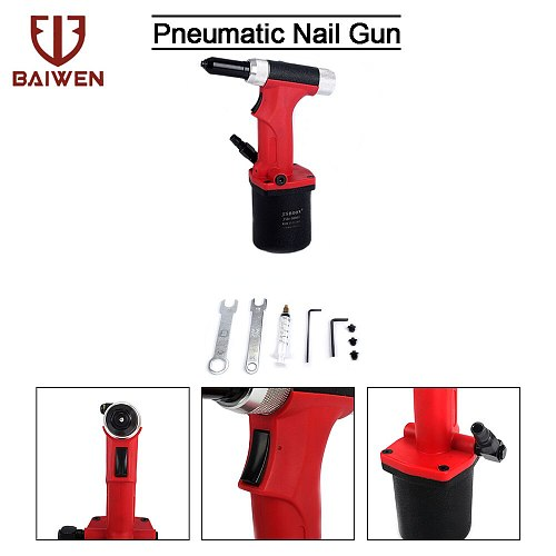 Pneumatic Air Hydraulic Rivet Nut Riveter Gun Riveting Power Tool S50 Suitable for Aluminium/ Iron /Stainless Steel Nails