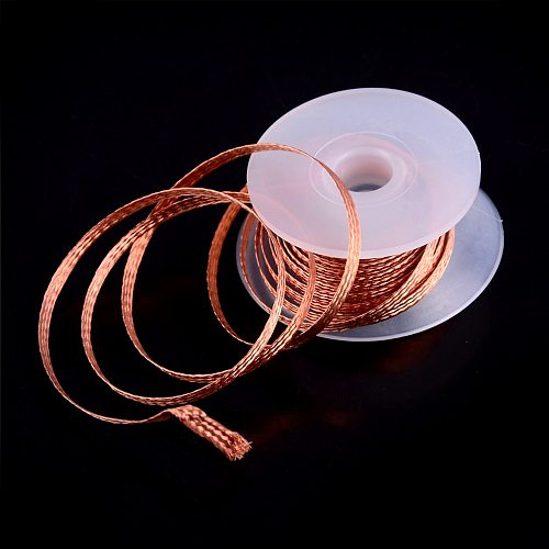 1.5m Length 3.5mm Width Wick Wire Cable For Absorbing Copper Desoldering Braid Desolder Solder Remover