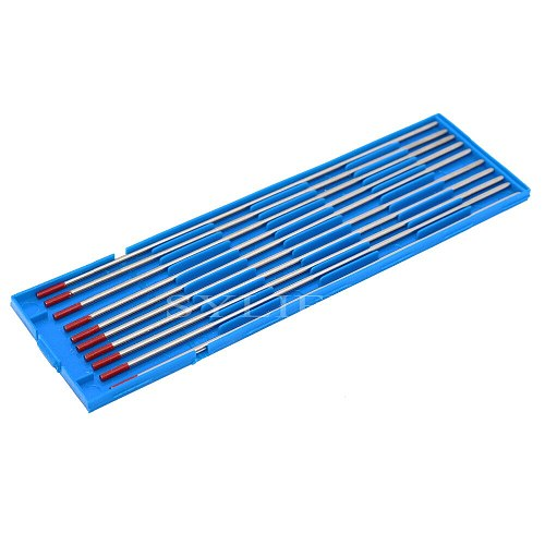 10 Pieces 175MM x 2.4MM WT20 Red Tig 2% Thoriated Welding Tungsten Electrode