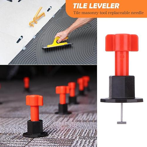 Level Wedges Tile Spacers for Flooring Wall Tile Carrelage Leveling System Leveler Locator Spacers Replaceable Needle
