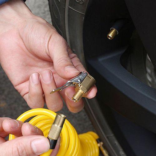 Car Truck Metal Tyre Tire Inflator Valve Air Pump Charging Clip Nozzle Chuck