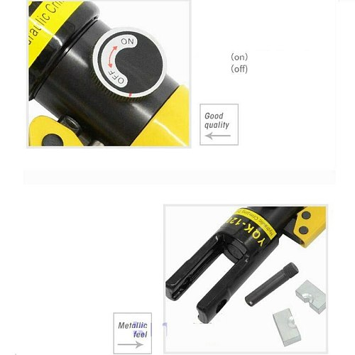 HQ Hydromatic Ferrule Sleeves Crimping Tool 6-12TON Hydraulic Cable Terminal Crimper for 0.5-10MM Ferrule Sleeve Crimping