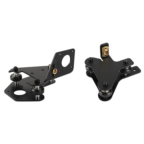 for 3D Printer Parts CR-10 S4/S5 X Axis Motor Mount Bracket Right/Left X-Axis Front/Back Motor Mount Plate with Wheels T Nut
