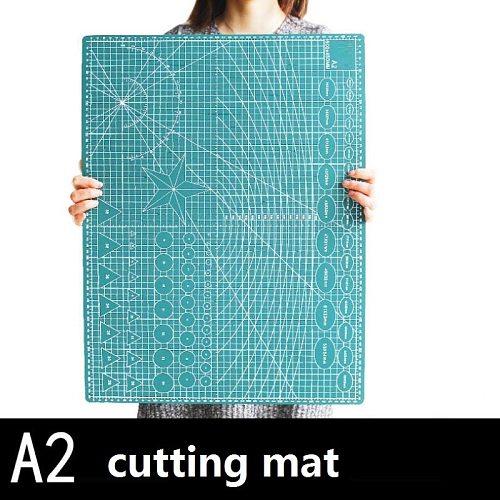 PVC cutting mat Cutting base plate 60x45cm A2 green black core paper cutting art carving cutter Backing plate
