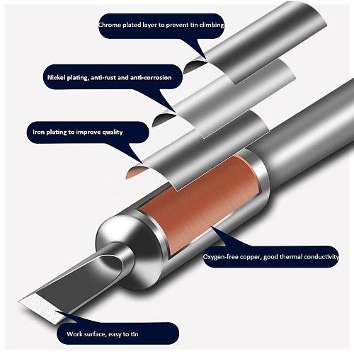 Jyrkior JBC C245 Replacement Soldering Iron Tip Handle Welding Nozzle Grip Compatible With JBC T245 Soldering Station
