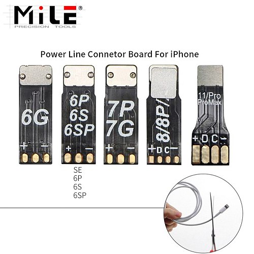 MILE 5pcs Power Welding Test Tool Connector for iPhone 6 6S 7 8 X 11/Pro/MAX Supply Cable Boot Line Mobile Phone Repair
