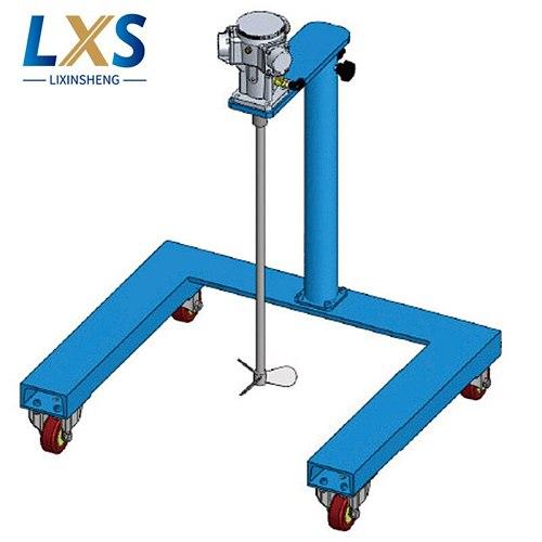 Industrial Blender 0 To 900 Rpm Manual Wheel Type Lifting Pneumatic Mixer 215 L/Min Paint Mixing Agitator