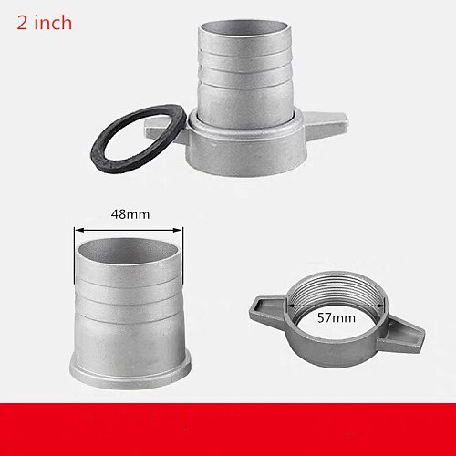 Gasoline water pumps fittings 2 Inch aluminum pipe connecting wrench with rubber gasket pump connector pipe fitting
