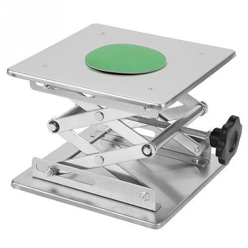 Stainless Steel Laboratory Lifting Platform Stand Scissor Rack 200*200*280mm Adjustable Lifting Platform Rack Router Lift Table