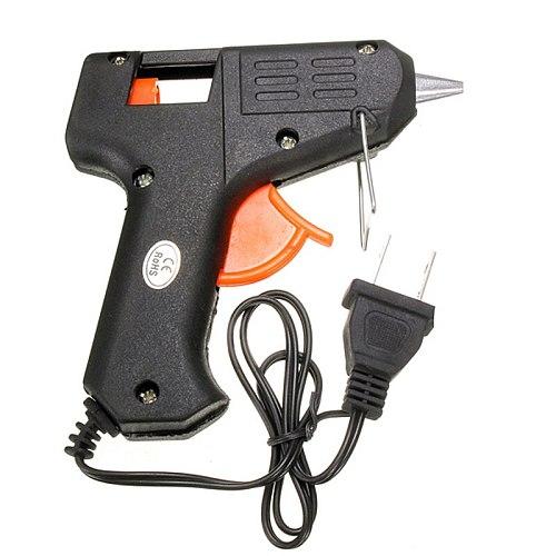 20W 110v-240v Suit for 7mm Glue Sticks Electric Glue Gun Sticks Trigger Art Craft Repair Heating Hot Melt Tool US Plug