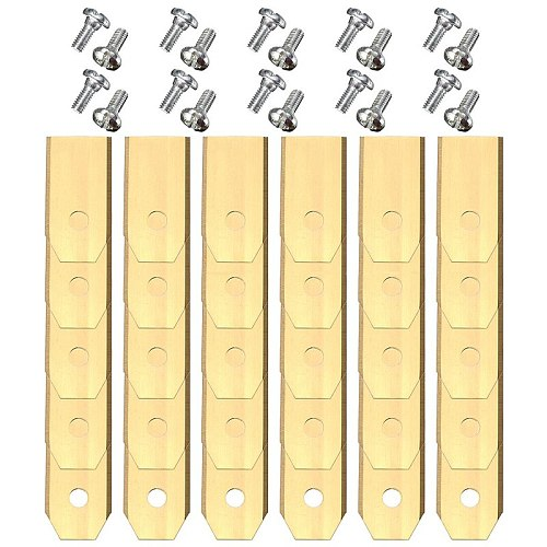 30pcs x 0.6mm Gold Titanium Replacement Lawnmower Blades with Screws for Automower