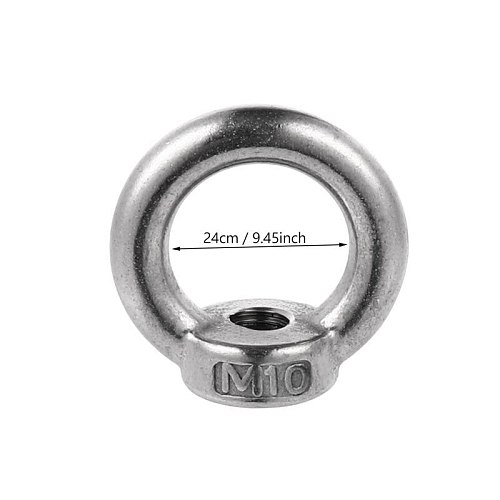8 Pcs Durable Eye Nut Stainless Steel Ring Nut Eyelets Nut Lifting Device Parts