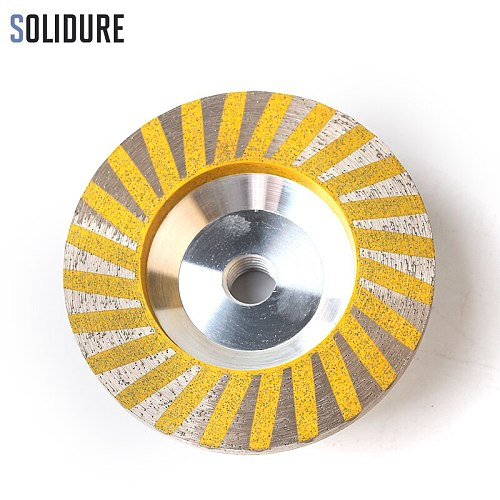4 inch 50# resin filled aluminumdiamond cup wheels turbo cup grinding Aluminum backer for grinding stone,concrete and tiles