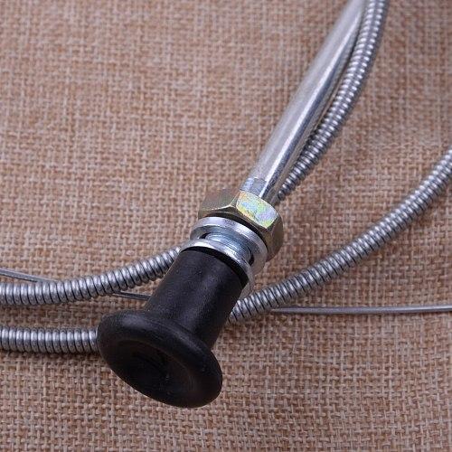 LETAOSK Universal Silver 237 Metal Rotary Push Pull Choke Cable 63  Inner 60  Conduit Lawn Mower