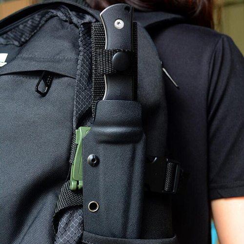 Outdoor EDC Knife K sheath Molle Belt clip bag clip POM Green ,brown , black