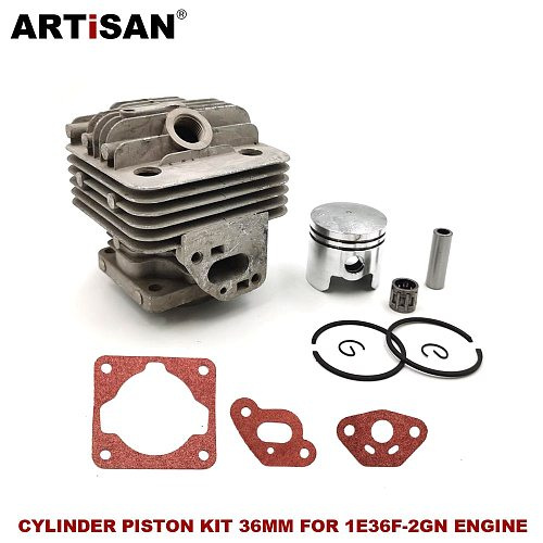 Cylinder Piston kit 36MM for MITSUBISH TL33 1E36F-2GN Mcculloch B33B 33CC Engine Brush Cutter.Grass Trimmer. Spare Parts