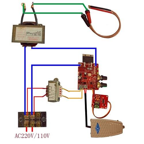 NY-D01 100A/40A Spot Welding Machine Control Board Welder Transformer Controller Panel Parts Adjust Time Current Digital Display