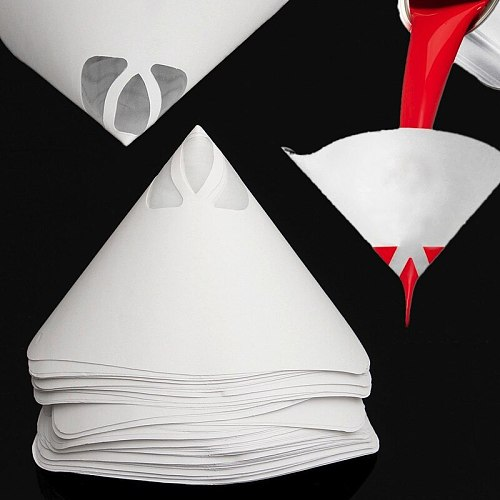 Best Price 50PCS Paper Paint Strainers Paper Paint Conical Strainers Mesh Filter Cone Strainer Paint Funnel