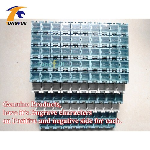 Tungfull 100pcs SMD SMT Component Container Storage Boxes Electronic Case Kit The 1#  Automatically Pops Up Patch Box