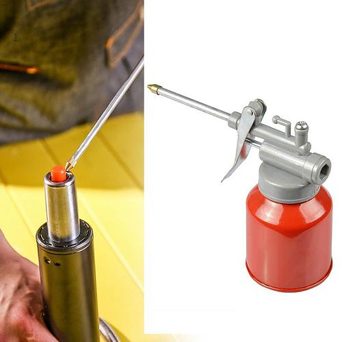 High Pressure Machine Oil Can 350ML Plastic Hose Resistant to Copper Tip Nozzle Oiler  Oil Spray Bottle Oil Can