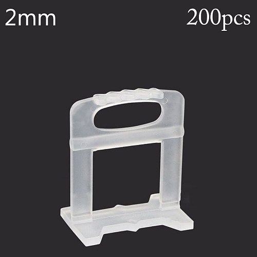 200Pcs 2mm leveling Base Tile Levelling Spacers Flooring Tiling Tool For Suit System Floor Tile Kits Household  Tools